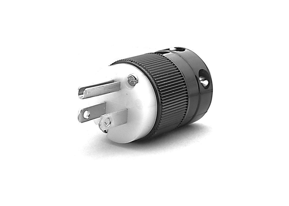 Re-wireable Straight USA 3 Pin NEMA 5-15P Plug – TDIGroup