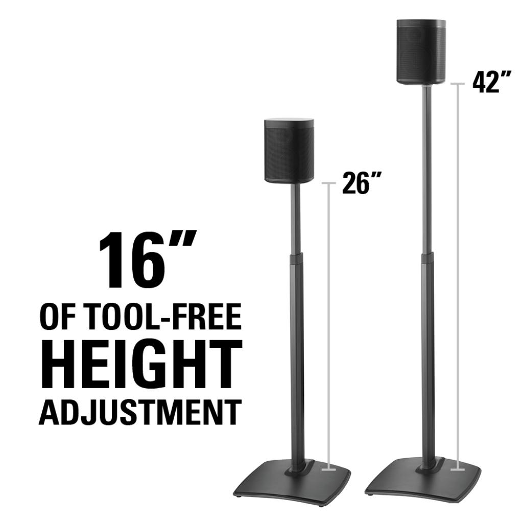 sonos rear surround speaker height